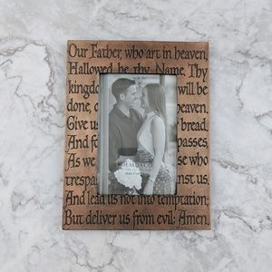 Lord's Prayer Verse Words Bronze Frame 4x6